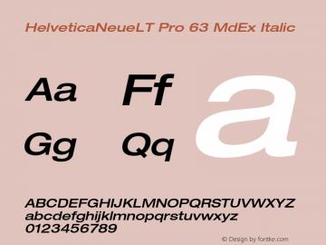 HelveticaNeueLT Pro 63 MdEx Italic Version 1.500;PS 001.005;hotconv 1.0.38图片样张