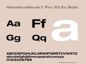HelveticaNeueLT Pro 53 Ex Bold Version 1.500;PS 001.005;hotconv 1.0.38 Font Sample