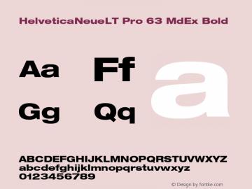 HelveticaNeueLT Pro 63 MdEx Bold Version 1.500;PS 001.005;hotconv 1.0.38图片样张