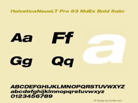 HelveticaNeueLT Pro 63 MdEx Bold Italic Version 1.500;PS 001.005;hotconv 1.0.38图片样张