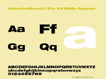 HelveticaNeueLT Pro 93 BlkEx Regular Version 1.500;PS 001.005;hotconv 1.0.38图片样张