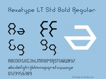Hexatype LT Std Bold Regular Version 1.200;PS 001.002;hotconv 1.0.38图片样张