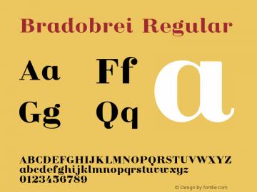 Bradobrei Regular Version 1.000 Font Sample
