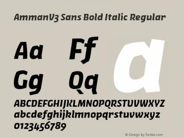 AmmanV3 Sans Bold Italic Regular Version 1.001图片样张