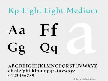 Kp-Light Light-Medium Version 001.000 Font Sample