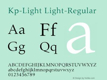 Kp-Light Light-Regular Version 001.000 Font Sample
