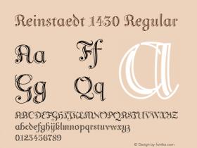Reinstaedt 1430 Regular Version 1.000 Font Sample