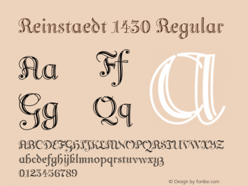 Reinstaedt 1430 Regular Version 1.000 Font Sample