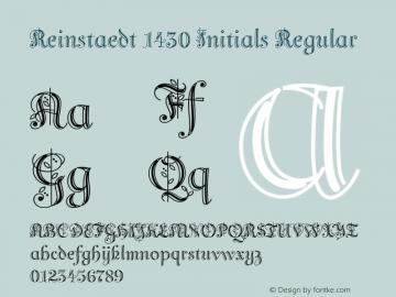 Reinstaedt 1430 Initials Regular Version 1.000图片样张