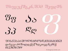 Academiury-ITV Italic 1.000 Font Sample