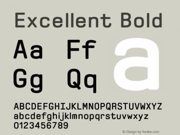 Excellent Bold 1.000 Font Sample