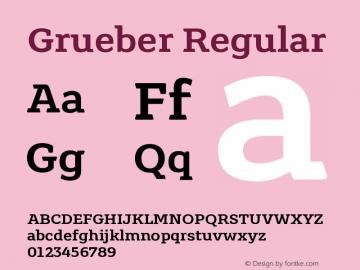 Grueber Regular Version 1.00图片样张