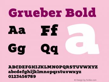 Grueber Bold Version 1.00图片样张