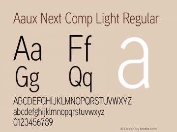 aaux next comp font