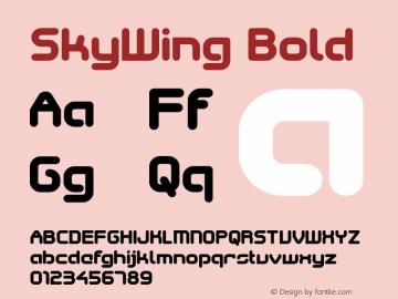 SkyWing Bold Version 001.000 Font Sample