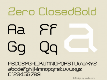 Zero ClosedBold Version 001.000图片样张