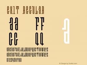 Exit Regular 001.000 Font Sample