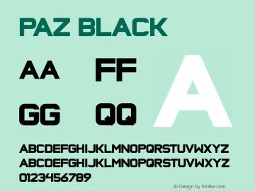 Paz Black Version 001.001 Font Sample
