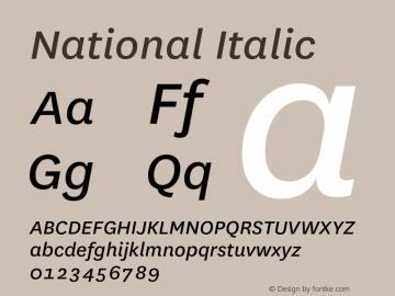 National Italic 001.001 Font Sample