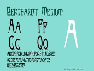 Bernhardt Medium 001.000 Font Sample