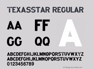 TexasStar Regular 001.001 Font Sample