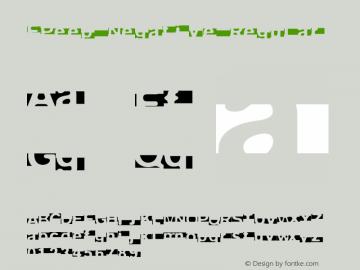 FPeep Negative Regular 001.000 Font Sample