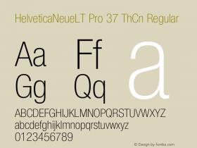 HelveticaNeueLT Pro 37 ThCn Regular Version 1.000;PS 001.000;Core 1.0.38 Font Sample