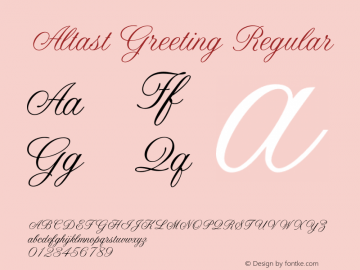 AltastGreeting Regular 001.000图片样张