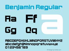 Benjamin Regular 001.000 Font Sample