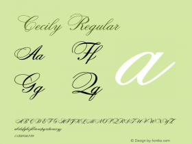 Cecily Regular 001.000 Font Sample