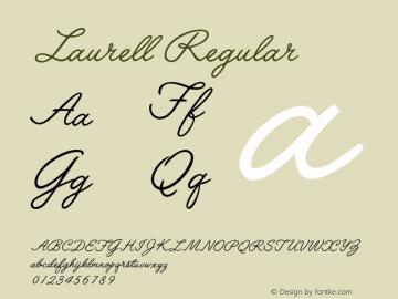 Laurell Regular 001.000 Font Sample