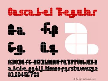 Cascabel Regular Version 1.000 Font Sample