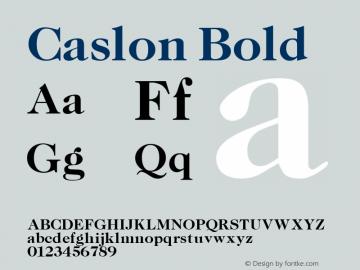 Caslon Bold Altsys Fontographer 3.5  11/25/92 Font Sample