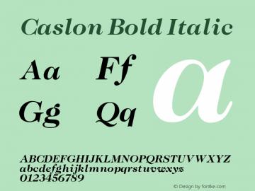 Caslon Bold Italic 001.000 Font Sample