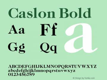 Caslon Bold 001.000 Font Sample
