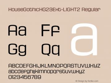 HouseGothicHG23Ext-LIGHT2 Regular OTF 1.001;PS 001.000;Core 1.0.29图片样张