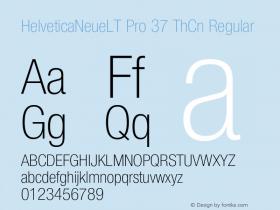 HelveticaNeueLT Pro 37 ThCn Regular Version 1.000;PS 001.000;Core 1.0.38图片样张