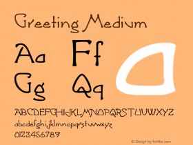 Greeting Medium Version 001.000 Font Sample