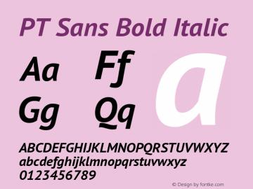 PT Sans Bold Italic Version 2.002 Font Sample