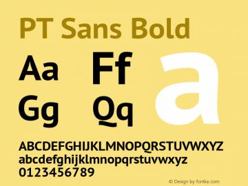 PT Sans Bold Version 2.002 Font Sample