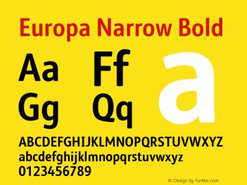 Europa Narrow Font,EuropaNarrow-Bold Font,Europa Narrow Bold