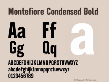 Montefiore Condensed Bold Version 1.000 Font Sample