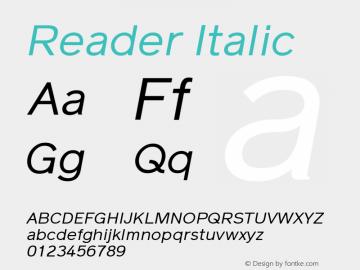 Reader Italic Version 1.000图片样张