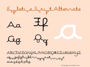 Expletive Script Alternate 002.000图片样张