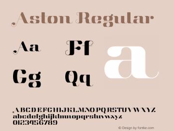 Aston Regular Version 1.000 Font Sample