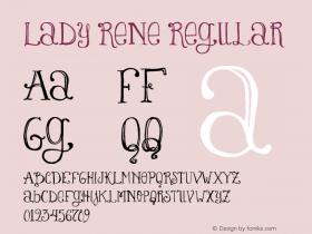 Lady Rene Regular Version 1.000 Font Sample