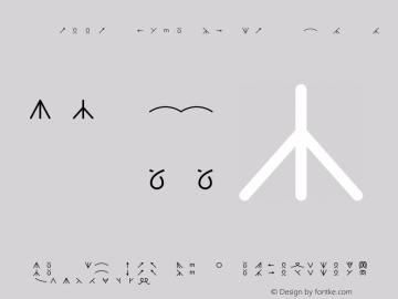 KnittingSymbols-wide-foreground wide-foreground-Medium Version 001.000 Font Sample