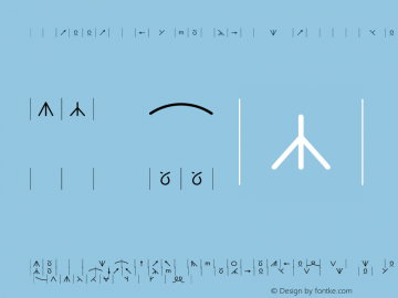 KnittingSymbols-wide-outcount wide-outcount-Medium Version 001.000 Font Sample