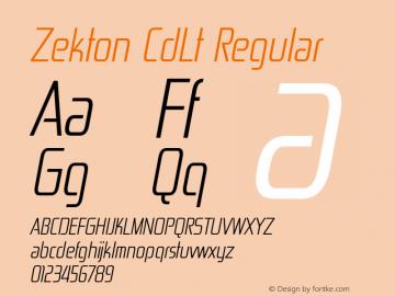 Zekton CdLt Regular Version 4.001图片样张