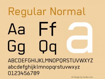 Regular Normal 001.012 Font Sample